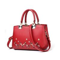 女士包包2017秋冬新款女包手提包红色新娘包包结婚包包单肩斜挎包