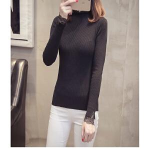 2018韩版高领毛衣女秋冬新款套头长袖百搭修身打底针织衫