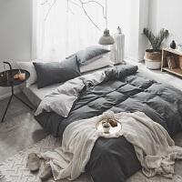 简约北欧网红ins风床上用品四件套1.8m全棉被套纯棉纯色床单床笠