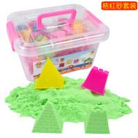 ?5斤太空玩具沙子套装儿童魔力男女孩粘土橡皮泥收纳箱装?