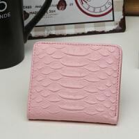 女士小钱包女短款韩版学生两折零钱包迷你折叠卡包简约搭扣钱包