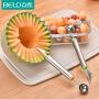 百露不锈钢吃水果挖球器创意雕花刀厨房拼盘工具切西瓜哈密瓜勺子