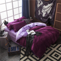 冬季加厚法莱绒四件套双面珊瑚绒保暖毛绒被套1.8m床上用品法兰绒