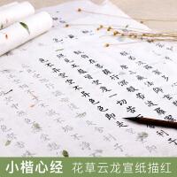 小楷毛笔字帖入门心经抄经本描红宣纸书法练习临摹佛经