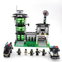 启蒙积木玩具拼装模型6岁-12岁儿童玩具警察系列防爆警察局129 儿童礼物 拼装积木玩具