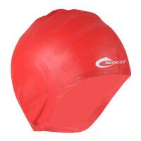 新款游泳帽专业护耳不勒头防水弹力男女纯色硅胶帽批发