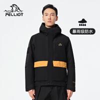 伯希和2021新款户外工装单层冲锋衣男士秋季休闲夹克防水潮牌外套