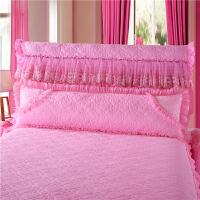 蕾丝花边夹棉加厚双人长枕套1.2/1.5/1.8米婚庆单人双人枕头芯套