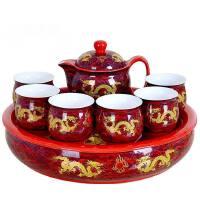 【支持礼品卡】2号盘隔热双层杯陶瓷茶盘茶具套装 云纹龙 多款可选7er