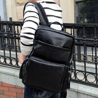 潮流时尚双肩包男韩版牛皮电脑背包男士旅行包简约英伦百搭书包女