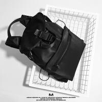 MAYMO设计可扩大多功能双肩包男商务休闲包防水旅行包电脑包SN5693 黑色 少量现货