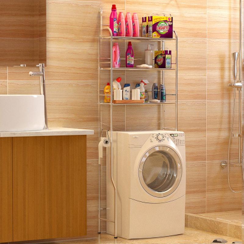 卫生间不锈钢马桶置物架厕所浴室架落地洗衣机架洗手间收纳