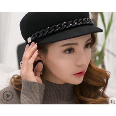新款甜美可爱英伦贝雷帽韩版潮帽子女百搭鸭舌帽 品质保证 售后无忧 支持货到付款
