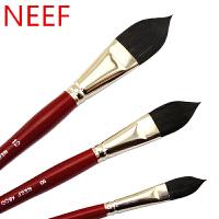 澳洲NEEF 红胖子艺术家水彩画笔 4600猫舌 阿瓦罗松鼠毛混毛榛形画刷