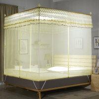 蚊帐三开门坐床式方顶1.8m床蒙古包双人家用1.5米拉链式1.2公主风