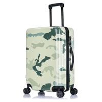 迷彩旅行箱拉杆箱男个性欧美密码皮箱女20行李箱潮学生万向轮24寸