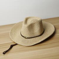 夏天混色男女士遮阳防晒西部牛仔百搭锥顶礼帽草帽 M(56-58cm)