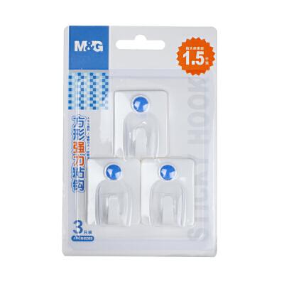 M&G晨光 ARCN8289 方形强力粘钩1.5kg(3只装)当当自营