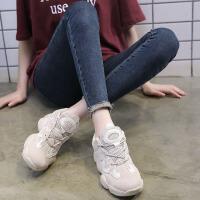 【领券抢购价115元包邮】网面鞋 男女士透气厚底休闲跑步鞋2019年新款韩版女式低帮网面运动鞋子