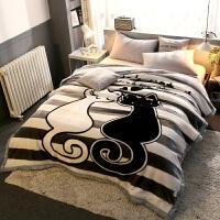 宿舍毛毯单人床铺珊瑚绒毯子冬季加厚保暖双层法兰绒毛毯单人宿舍学生垫床单小被子 双层加厚200X230cm 约9斤