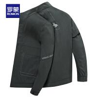 【罗蒙2件1.5折到手价:120】男士商务休闲短款夹克2020春季新款青年时尚潮流百搭立领外套