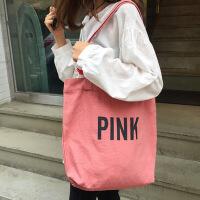 简约字母原创小清新帆布袋女包文艺购物袋单肩学生帆布包 其他