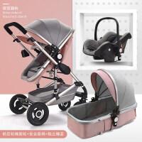 高景观婴儿推车可坐躺双向四轮避震折叠新生儿童手推车宝宝BB冬夏a340