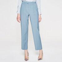 【2件2.5折叠券约:104,12日0点】羊毛MECITY女装新款直筒简单利落长款西装裤