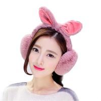 冬天耳罩保暖 防寒兔耳朵耳捂 秋冬季耳套可折叠 女可爱学生耳包