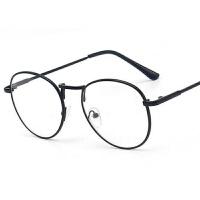 韩国文艺 圆形金属眼镜框 复古平光镜潮男女装饰眼镜可配近视全框