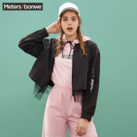 【满1000减750】美特斯邦威棒球外套女春装韩版夹克潮流运动上衣学生2019新款
