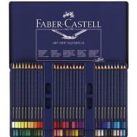 全国包邮德国辉柏嘉 蓝铁盒 60色三角点阵水溶彩色铅笔 水溶彩铅
