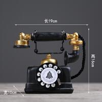 复古创意工业风铁艺留声机电话机摆件客厅服装店装饰品摆设工艺品