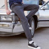 【1件5折到手价:79.5】美特斯邦威透气运动裤男2019夏季新款潮流纯色休闲小脚薄款裤子
