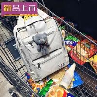 2018牛津布双肩包女韩版书包校园初中学生包全防水尼龙背包电脑包寸