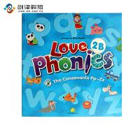 原装进口3-6岁 幼儿英语自然拼读phonics love phoncis 2B 台湾东西图书 零基础英语口音培训