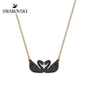 SWAROVSKI/施华洛世奇 Iconic Swan Double黑天鹅项链 5296468