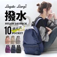 日本乐天ins旅行简约时尚大容量超轻学生书包女潮双肩包妈咪背包