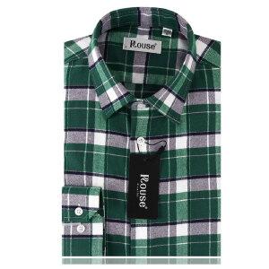 洛兹男正品秋季新款商务休闲全棉长袖格子衬衫LM14411-52