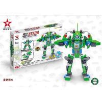 星钻积木 80233-80236 赛尔号机甲 F船变形套装拼插积木玩具