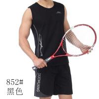 夏季薄款�\�犹籽b爸爸�A�I中老年男�b短袖T恤短� 中年男士健身服