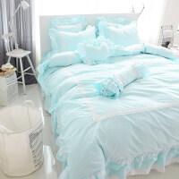 韩版床上四件套床裙床罩蕾丝公主风纯棉床单1.8米2.0m床双人