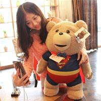 美国ted泰迪熊毛绒玩具送女友公仔布娃娃抱抱熊七夕情人节礼物