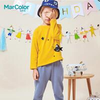 巴拉巴拉旗下MarColor马卡乐2019春新品男童鲨鱼图案两件卫衣套装