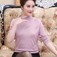 中老年女装毛衣秋冬针织打底衫40-50岁妈妈装短款中年妇女羊毛衫