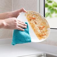 细纤维吸水抹布加厚不掉毛洗碗布10条装厨房不沾油清洁毛巾百洁布