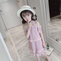 女童吊带连衣裙夏装新款韩版小女孩洋气儿童雪纺公主裙子