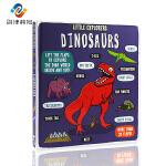 英文原版Little Explorers Dinosaurs 小探险家 恐龙纸板书 儿童普读物 少儿百科 4-6岁儿童