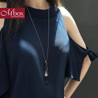 Mbox毛衣项链 女长款百搭韩国版秋冬波西米亚风时尚项链 倾城月光