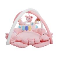 爱婴起航宝宝满月狗年礼物0-18个月音乐健身架玩具婴儿游戏毯 (钢琴版)
